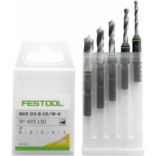 Festool Kazeta s vrtáky BKS D 3-8 CE/W-K Vrtací nástroje