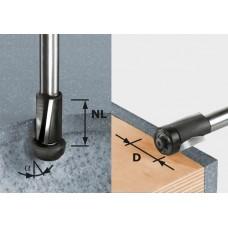 Festool Falcovací fréza HW stopka 12mm HW D19/25 ss S12 Stopkové frézy - D12mm pro obrábění polymerových materiálů