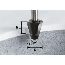 Festool Fazetová frézka HW stopka 12 mm HW D33,54/15° ss S12 Stopkové frézy - D12mm pro obrábění polymerových materiálů