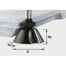 Festool Fazetová frézka HW stopka 12 mm HW D66,5/30° ss S12 Stopkové frézy - D12mm pro obrábění polymerových materiálů