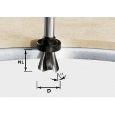 Festool Fazetová frézka HW stopka 12 mm HW D28/15° ss S12 Stopkové frézy - D12mm pro obrábění polymerových materiálů
