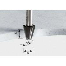 Festool Fazetová frézka HW stopka 12 mm HW D23/15° ss S12 Stopkové frézy - D12mm pro obrábění polymerových materiálů