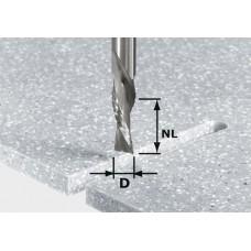 Festool Ohrubovací / začisťovací drážkovací fréza HW stopka 12 mm HW Spi D12/42 LD ss S12 Stopkové frézy - D12mm pro obrábění polymerových materiálů