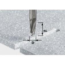 Festool Spirálová drážkovací fréza HW stopka 12 mm HW D12/27 ss S12 Stopkové frézy - D12mm pro obrábění polymerových materiálů